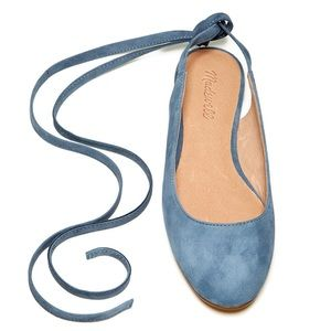 Madewell | April Ankle Wrap Suede Flat Size 7.5